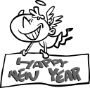 New Year Angel Clipart