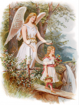 Royalty Free Victorian Angel Clipart